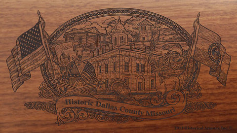 Dallas county missouri engraved rifle buttstock