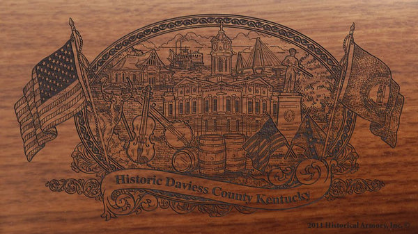 Daviess county kentucky engraved rifle buttstock