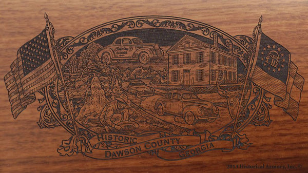 Dawson county georgia engraved rifle buttstock