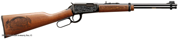 Dawson county montana engraved rifle H001