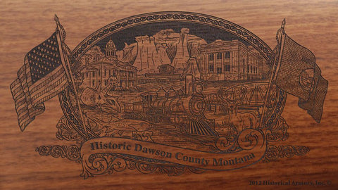 Dawson county montana engraved rifle buttstock