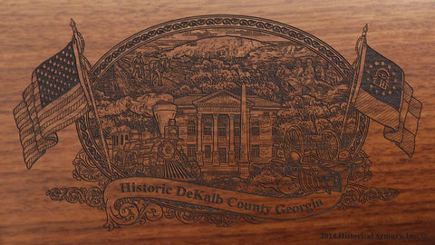 DeKalb county georgia engraved rifle buttstock