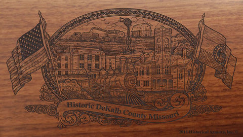 DeKalb county missouri engraved rifle buttstock