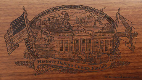 DeSoto county florida engraved rifle buttstock