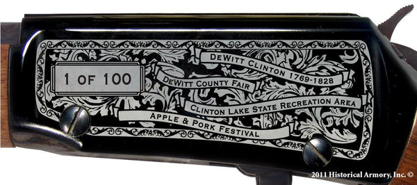DeWitt county illinois engraved rifle H001 receiver