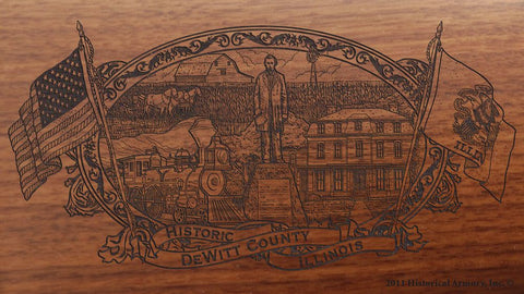 DeWitt county illinois engraved rifle buttstock