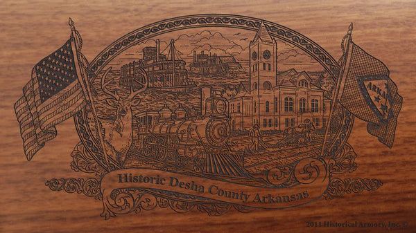 Desha-county-arkansas-engraved-rifle-Buttstock