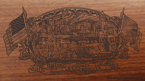 Douglas county kansas engraved rifle buttstock
