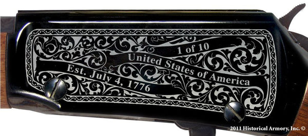 Douglas county missouri engraved rifle H001 receiver