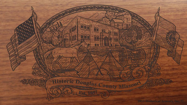 Douglas county missouri engraved rifle buttstock