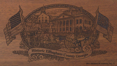 Effingham county georgia engraved rifle buttstock