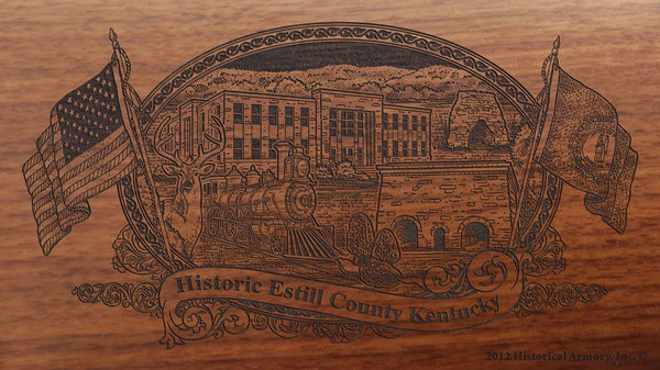 Estill county kentucky engraved rifle buttstock