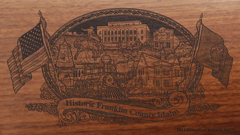 Franklin county idaho engraved rifle buttstock