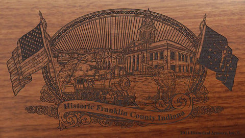 Franklin county indiana engraved rifle buttstock