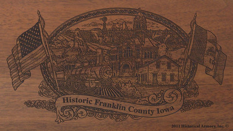 Franklin county iowa engraved rifle buttstock
