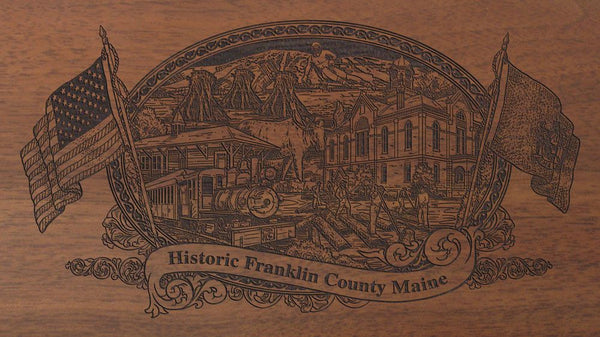 Franklin county maine engraved rifle buttstock