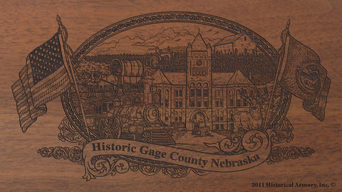 Gage county nebraska engraved rifle buttstock
