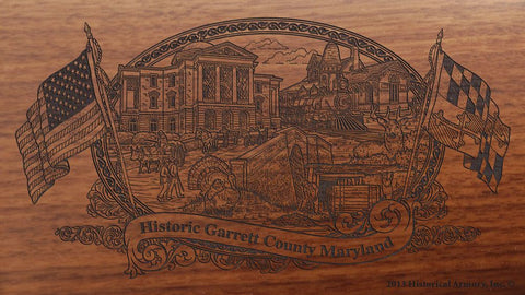 Garrett county maryland engraved rifle buttstock
