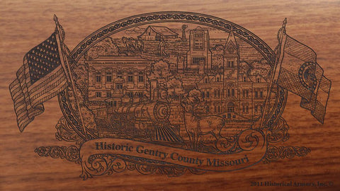 Gentry county missouri engraved rifle buttstock