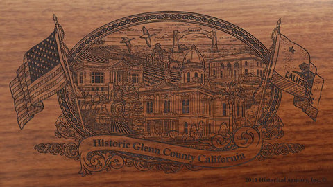 Glenn county california engraved rifle buttstock