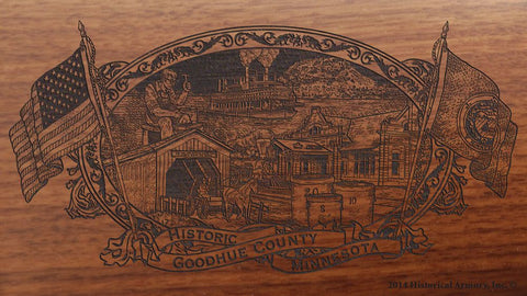 Goodhue county minnesota engraved rifle buttstock