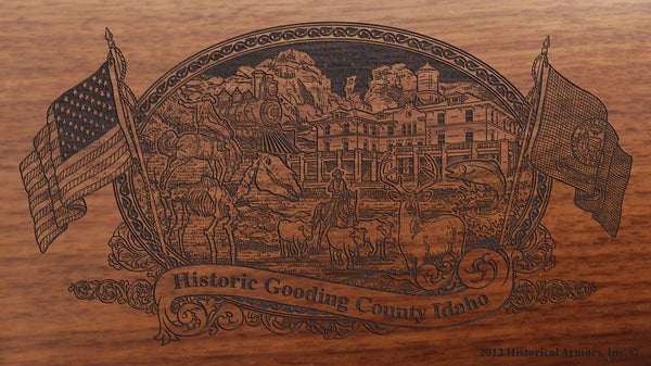 Gooding county idaho engraved rifle buttstock