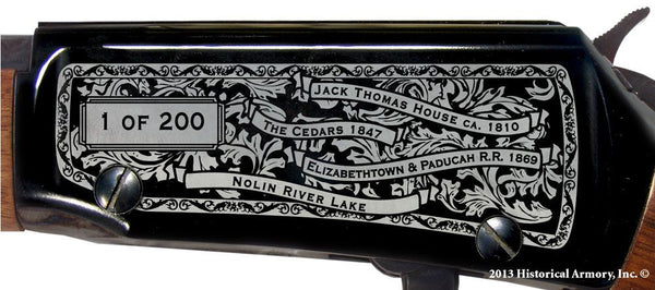 Grayson county kentucky engraved rifle H001 Receiver