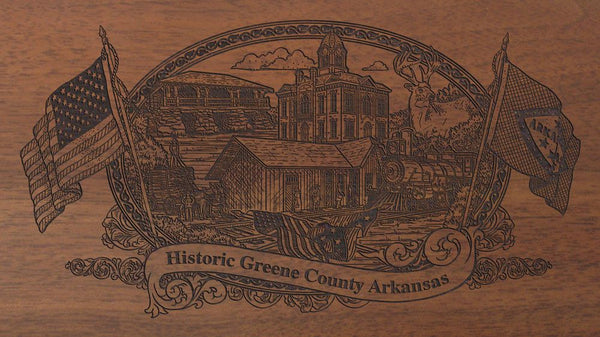 Greene-county-arkansas-engraved-rifle-Buttstock
