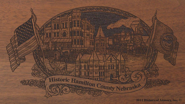 Hamilton county nebraska engraved rifle buttstock
