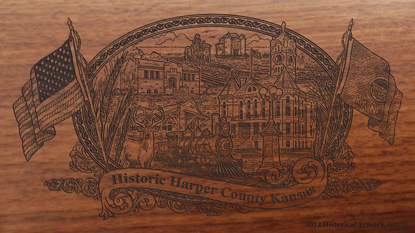 Harper county kansas engraved rifle buttstock