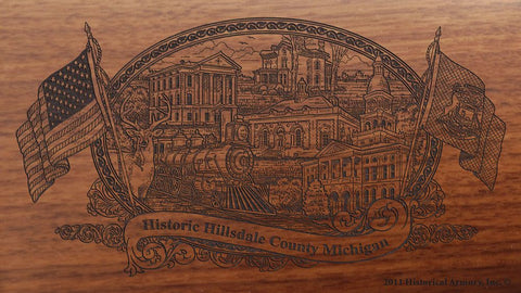 Hillsdale county michigan engraved rifle buttstock