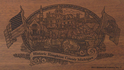 Houghton county michigan engraved rifle buttstock