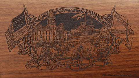 Houston county alabama engraved rifle buttstock