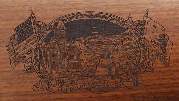 Humboldt county california engraved rifle buttstock