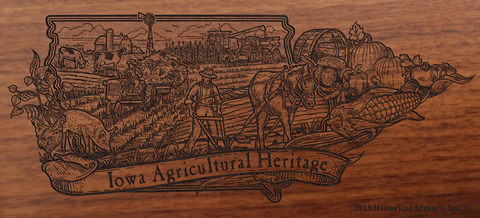 Iowa State Agricultural Heritage Engraved Rifle