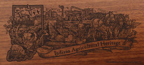 Indiana State Agricultural Heritage Engraved Rifle