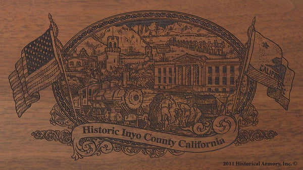 Inyo county california engraved rifle buttstock
