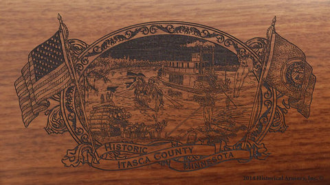 Itasca county minnesota engraved rifle buttstock