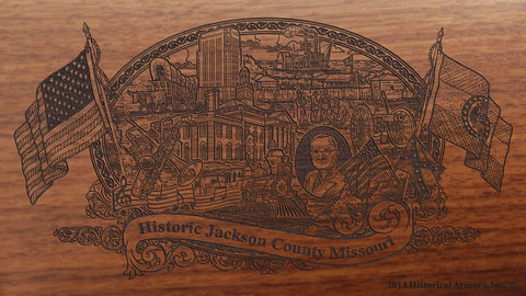 Jackson county missouri engraved rifle buttstock