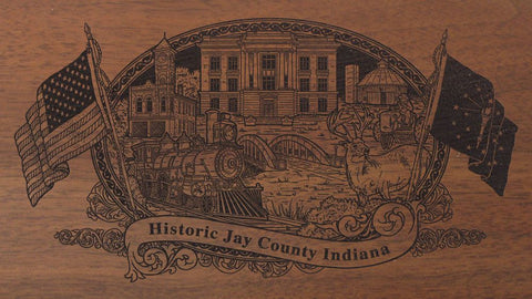 Jay county indiana engraved rifle buttstock