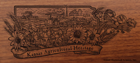 Kansas State Agricultural Heritage Engraved Rifle