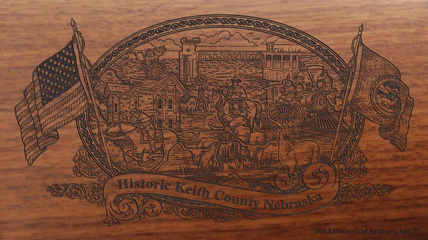 Keith county nebraska engraved rifle buttstock