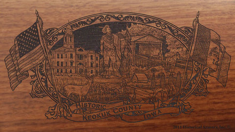 Keokuk county iowa engraved rifle buttstock