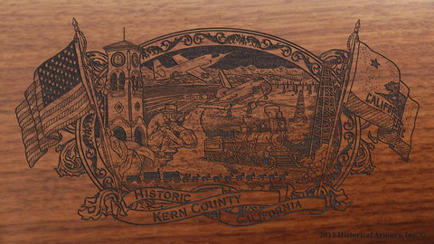 Kern county california engraved rifle buttstock