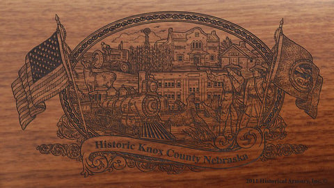 Knox county nebraska engraved rifle buttstock