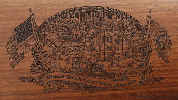 Koochiching county minnesota engraved rifle buttstock