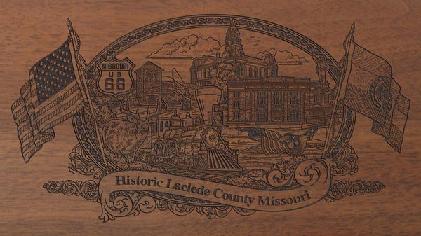 Laclede county missouri engraved rifle buttstock