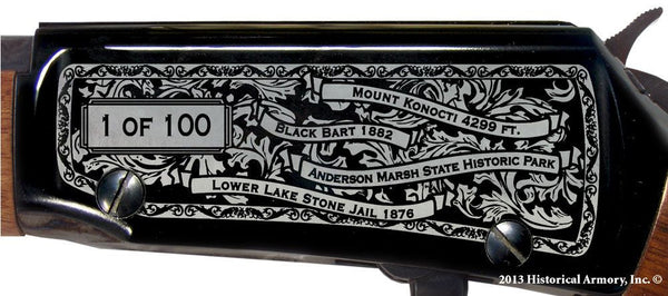 Lake county california engraved rifle H001 Receiver