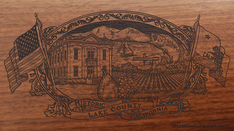 Lake county california engraved rifle buttstock