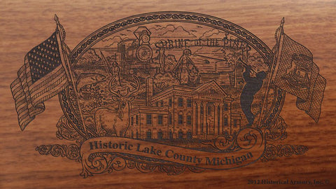 Lake county michigan engraved rifle buttstock